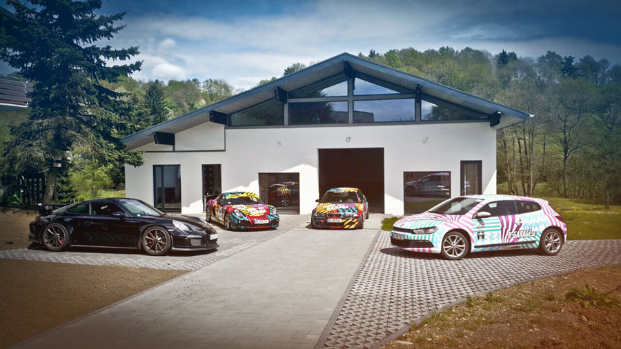 ring garage clubhouse n rburgring architekten aachen architekturb ro aus aachen. Black Bedroom Furniture Sets. Home Design Ideas